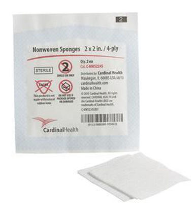 "Picture of Sterile Non-Woven Gauze Sponge 2"" x 2"" 2pack"