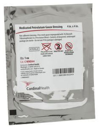 "Picture of Xeroform Petrolatum Medicated Gauze Dressing, 4"" x 4"""