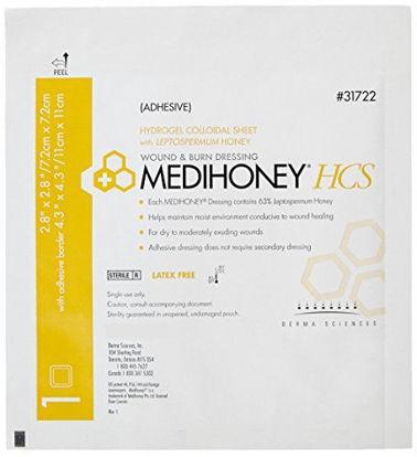 "Picture of Medihoney Adhesive HCS Sheet, 2.4"" x 2.4"""