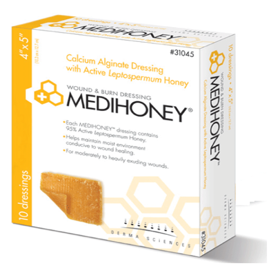 "Picture of Medihoney Hydrocolloid Dressing without Border, Non-Adhesive, 4"" x 5"""