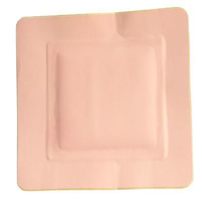 """Picture of Sterile Latex Free Foam Island Dressing with Adhesive Border 3"""" x 3"""""""