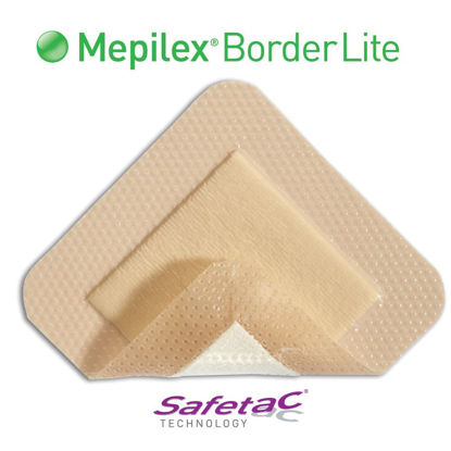 "Picture of Mepilex Border Lite Thin Foam Dressing 3"" x 3"""