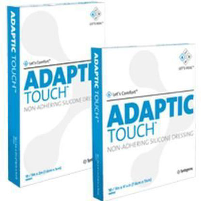 "Picture of ADAPTIC Touch Non-Adhering Silicone Dressing 3"" x 2"""