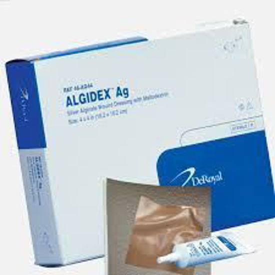 "Picture of Algidex Ag Silver Alginate Wound Dressing with Foam Back 4"" x 4"""