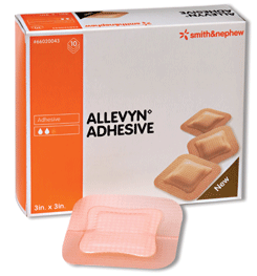 """Picture of ALLEVYN Adhesive Hydrocellular Dressing 3"""" x 3"""""""