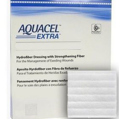 "Picture of Aquacel Extra Hydrofiber 4"" X 5"" Wound Dressing"