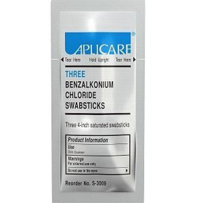 Picture of Aplicare Benzalkonium Chloride Swabstick, Triples