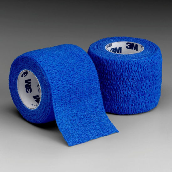 """Picture of Coban Non-Sterile Self-Adherent Wrap 2"""" x 5 yds., Blue"""
