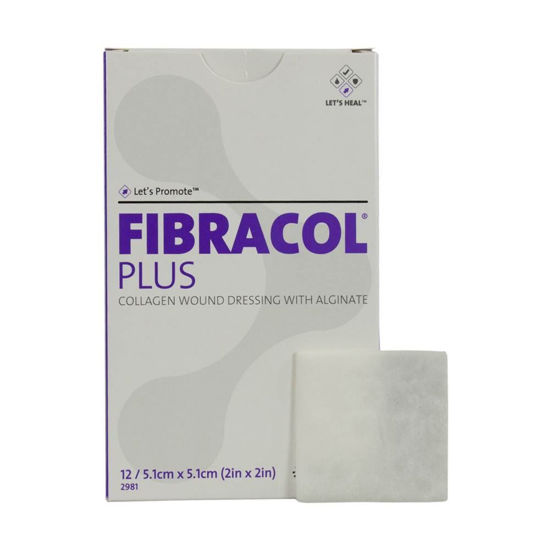 """Picture of FIBRACOL Plus Collagen Wound Dressing 2"""" x 2"""""""