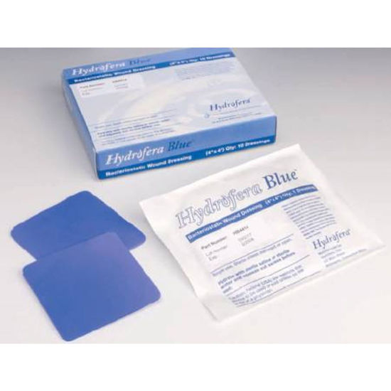 "Picture of Hydrofera Blue™ Ostomy Foam Dressing, with Moisture-Retentive Film, Adhesive without Border, 2-1/2"" OD"