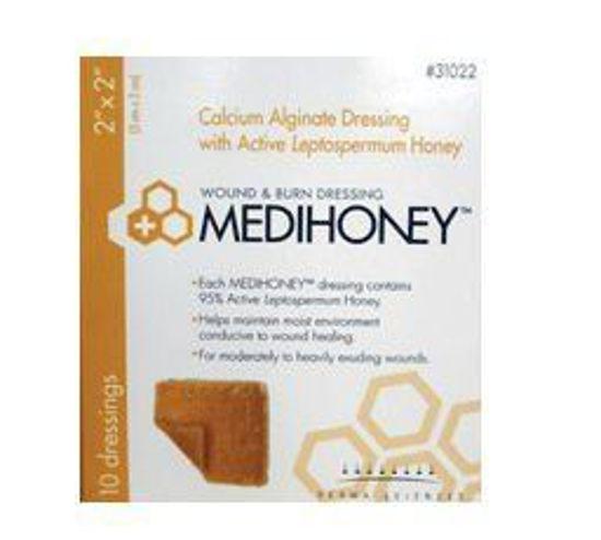 """Picture of MEDIHONEY Calcium Alginate Dressing 2"""" x 2"""""""