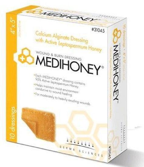 """Picture of MEDIHONEY Calcium Alginate Dressing, 4"""" x 5"""""""