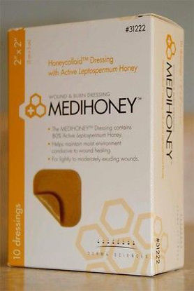 "Picture of MEDIHONEY Hydrocolloid Dressing Without Border 2"" x 2"""