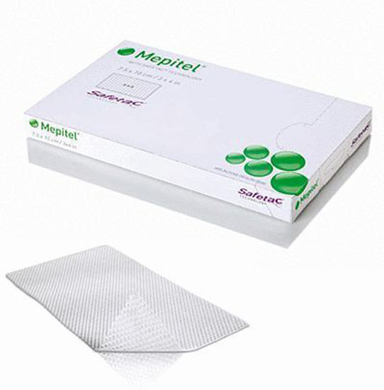 "Picture of Mepitel Non-Adherent Soft Silicone Wound Contact Layer 3"" x 4"""