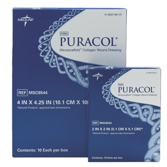 """Picture of Puracol Plus AG Collagen Antimicrobial Silver Dressing 4-1/4"""" x 4-1/2"""""""