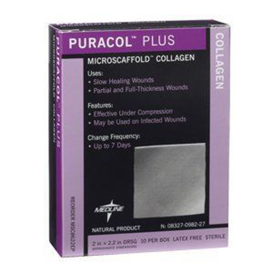 "Picture of Puracol Plus AG Collagen Dressing 2"" x 2"""