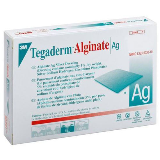 "Picture of Tegaderm Alginate Ag Silver Dressing 2"" x 2"""