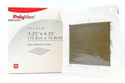 """Picture of Polymem Silver 4.25"""" x 4.25""""  Non-Adhesive PolyMeric Membrane Dressing"""
