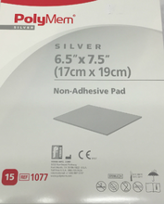 """Picture of Polymem Silver 6.5"""" X 7.5"""" Non-Adhesive PolyMeric Membrane Dressing"""
