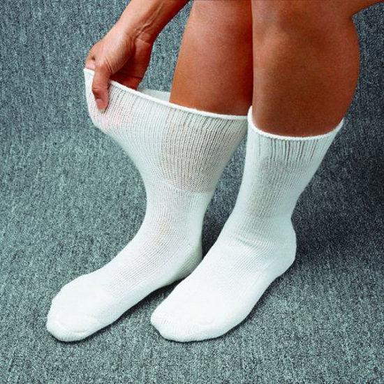 Picture of Medicool DiaSox® Plus Oversize Diabetes Socks, Large, White